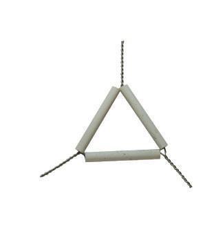 Triangulo En Porcelana Y Alambre  50Mm