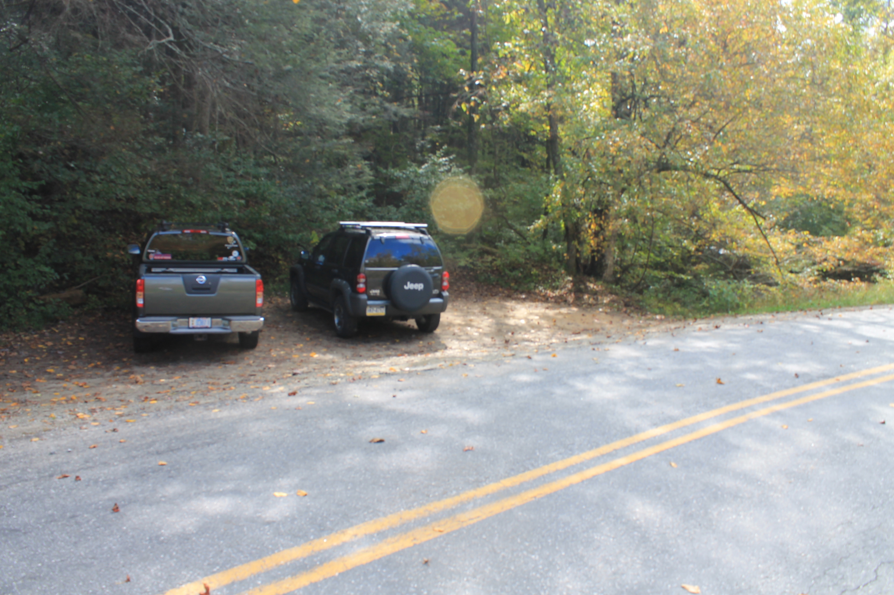 Parking Area on Holbert Cove Road