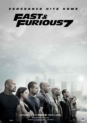 Fast & Furious 7 (Extended Edition) | HD | Movies Anywhere or VUDU | USA