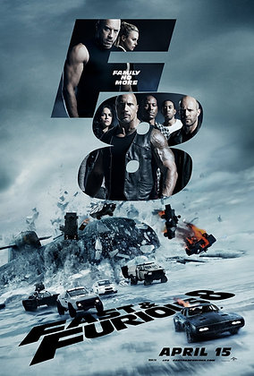 Fast & Furious 8 (Theatrical Edition) | HD | Movies Anywhere or VUDU | USA