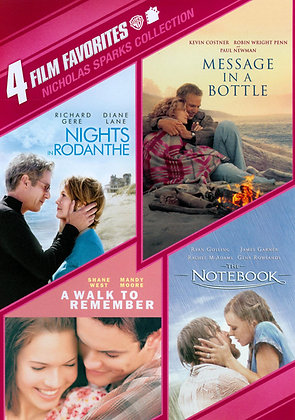 4 Film Favorites: Nicholas Sparks Collection | SD | MA or VUDU | US
