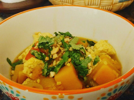 Thai tofu and winter squash stew