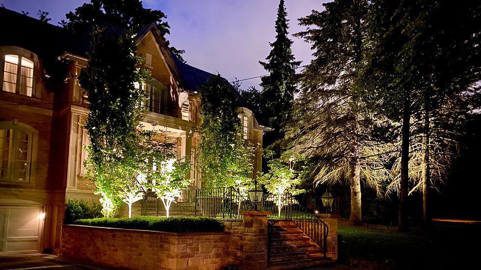 Luxury Home Landscape Lighting