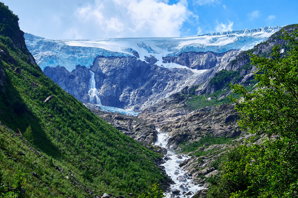 The Folgefonna glacier is a perfect place for skiing in the Western Norway