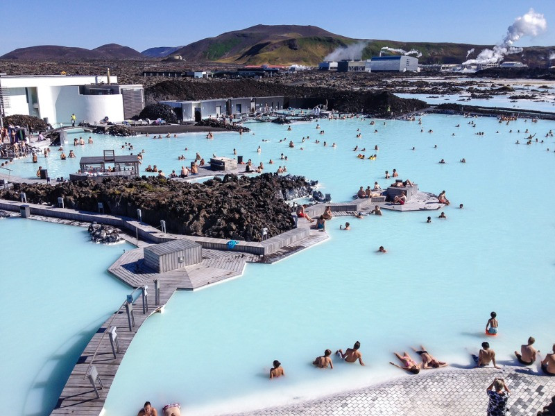 Blue LAgoon is one of the top geothermal pools in Iceland