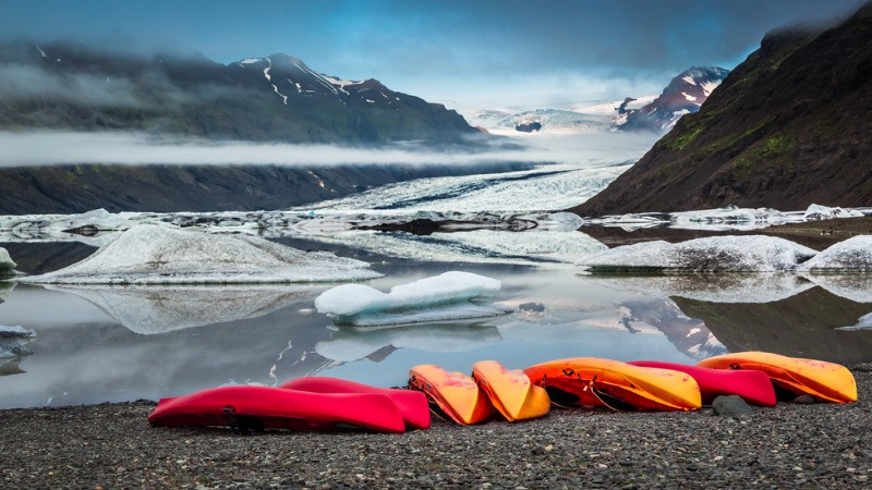 River rafting is the most popular extreme activities in Iceland