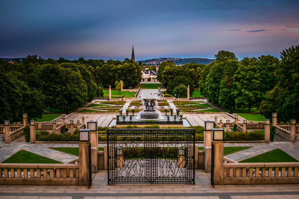 TheFrogner Park is one of the most beautiful place in Oslo, the capital of Norway