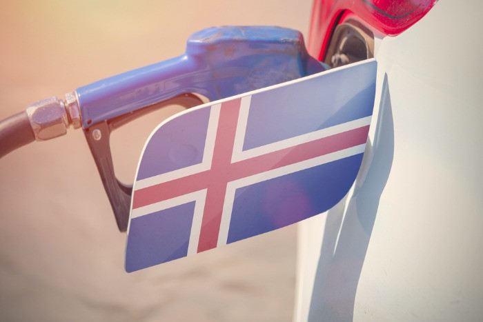 Buying the gasoline with a prepaid gas card in Iceland is easier and faster
