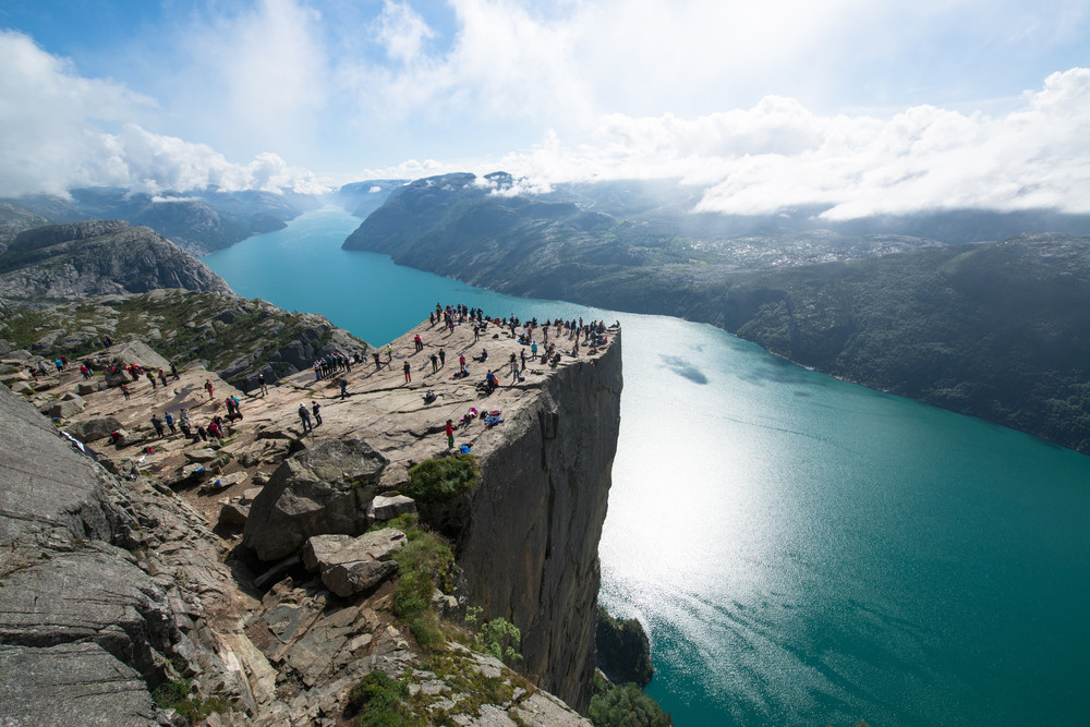 The Pulpit Rock is one of the most common attractions around Oslo, the capital of Norway