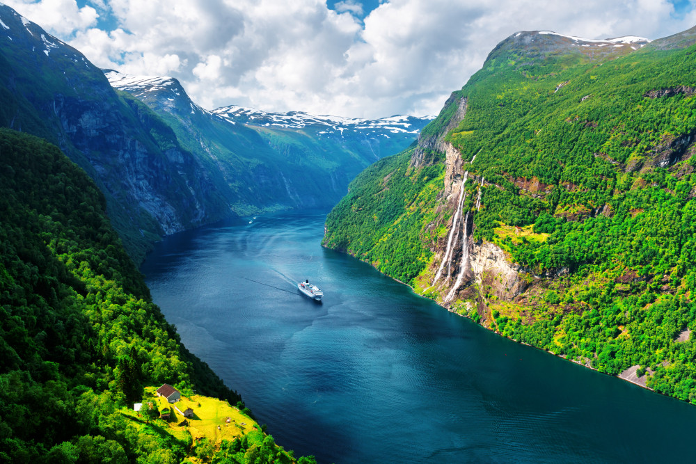 A spectacular view over the fjords in the Western Norway