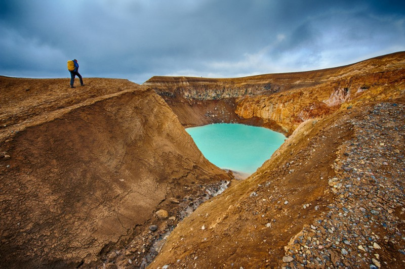 Askja located in the Iceland's Highland is one of the famous destination in the interior