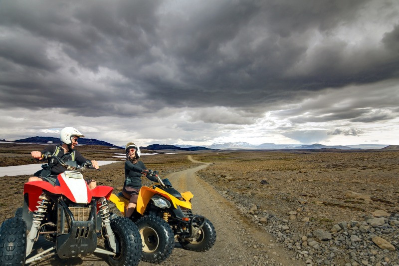 Go on a ATV tour if you want to experience some adrenaline-pumping extreme activities in Iceland