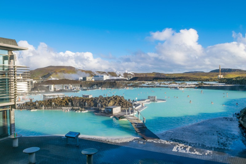 Lava Restarant is located at the Blue Lagoon in Iceland