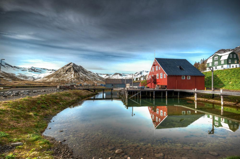 Incredible landscape in Siglufjordur in the Trollaskagi Peninsula