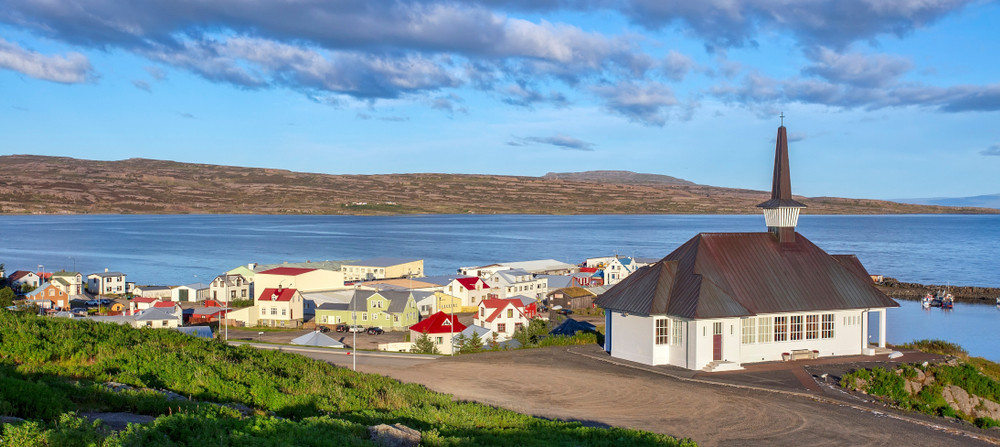 Holmavik is one of the most adorable towns on the Iceland's Ring Road 2, the route of the Westfjords