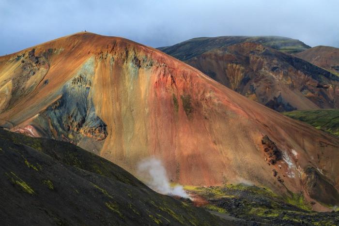 Mt Brennisteinsalda hiking trail is one of the most famous in Landmannalaugar
