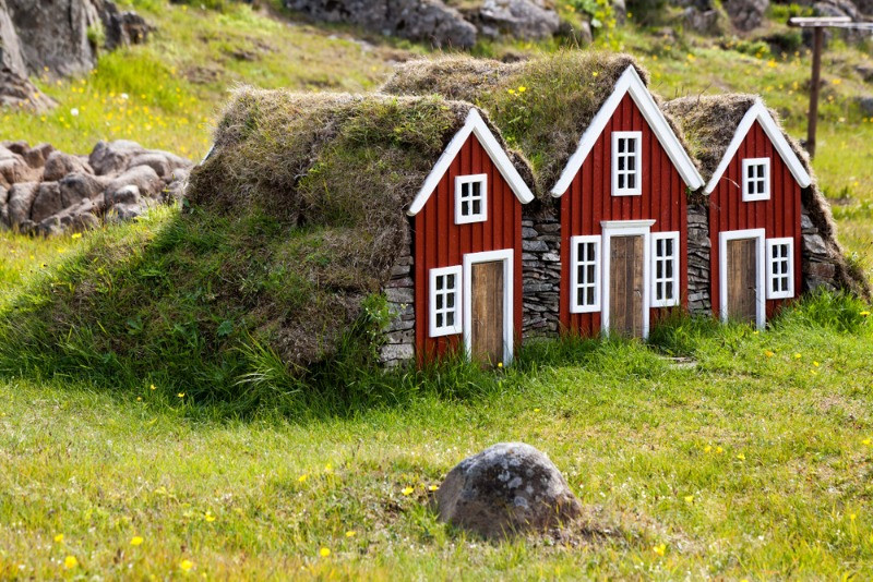 Elf houses in Iceland; Icelandic folktales are full of trolls and elves