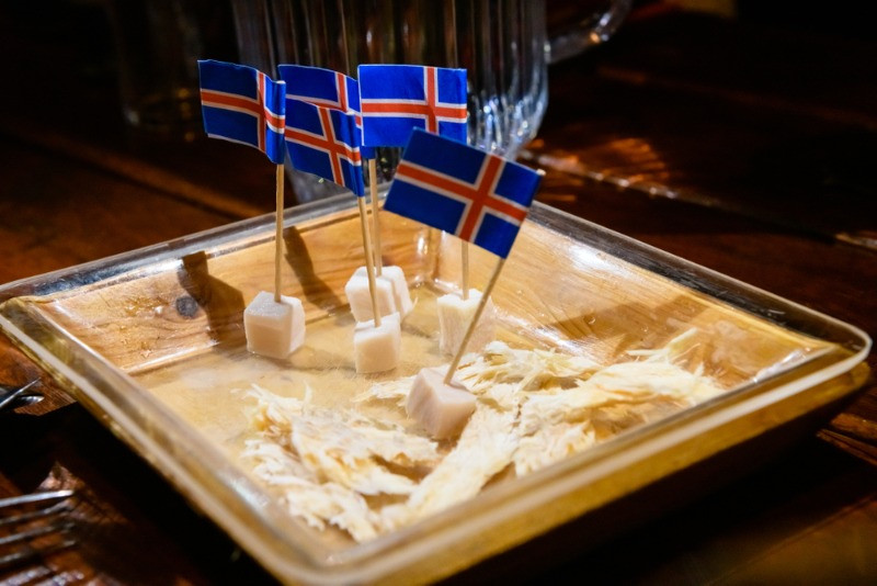 Hakarl Icelandic fermented shark is a traditional dish you must try