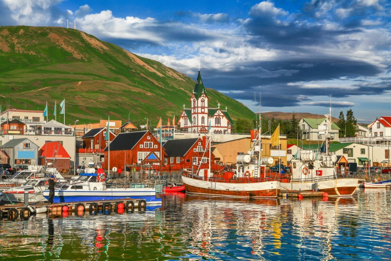 Akureyri is one of the most visited towns in the Trollaskagi Peninsula