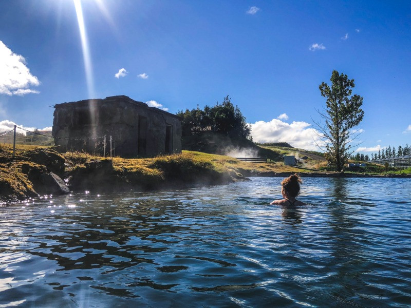 One of the best  geothermal pools in Iceland is the Secret Lagoon