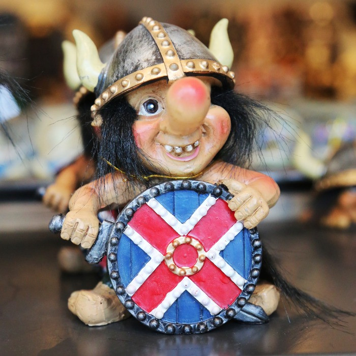 Icelandic troll figure which you can buy as a souvenir from Iceland