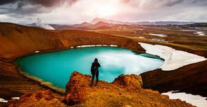 Viti Volcano Crater in The Region of Askja