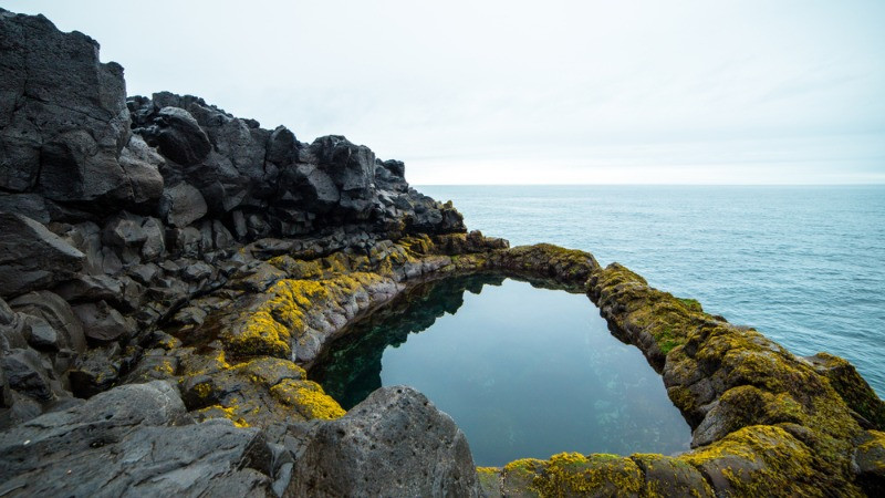 Brimketill  in Icelandic folktales is called the Oddyny's pool