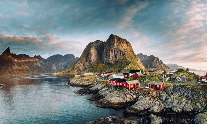 Fjords in Lofoten Islands from our list of the top 10 coastal cities in Norway