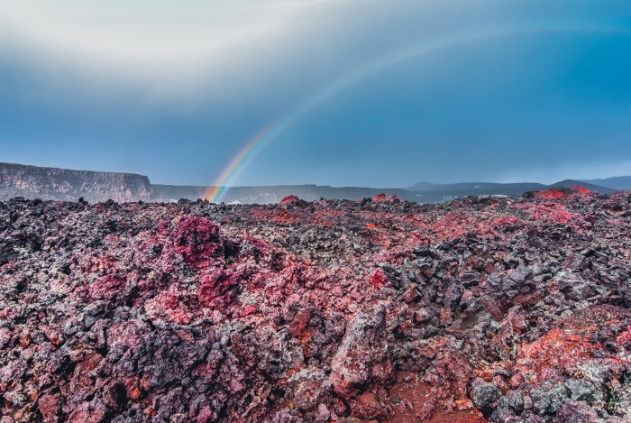 when you reach Askja, make sure to visit these impressive red ruby lava formations