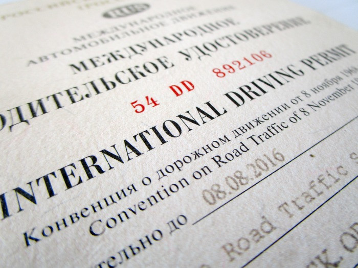 Iternational Driving Permit photo certifying validity of a Russian license