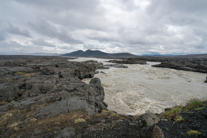 River crossing in Askja involves a glacial river Jokulsa a Fjollum