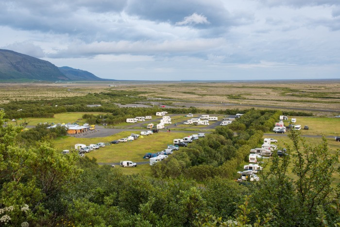 Right to roam in Iceland has restrictions and you should stay on the campsites like this one