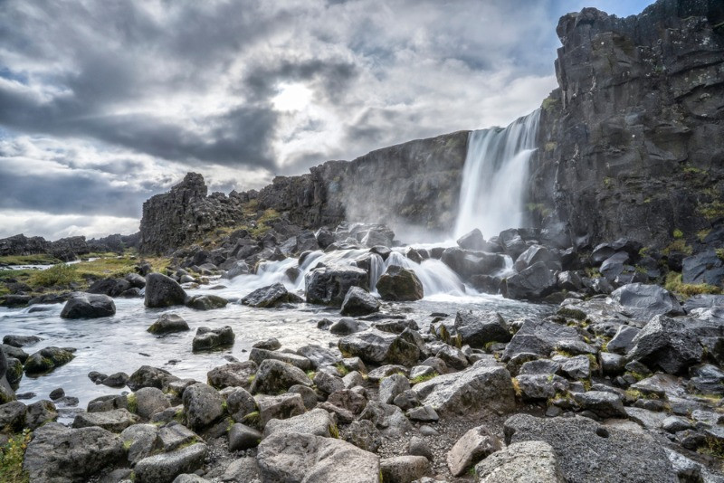 The wateralls, lava fields and hot springs are effects of the processed of the formation of Iceland