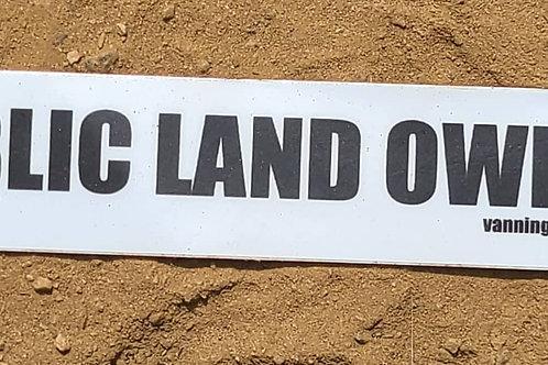 Public Land Owner Sticker