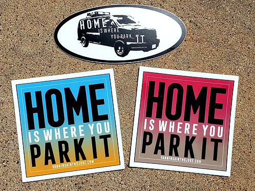 Sticker Pack: Home Is Where You Park It