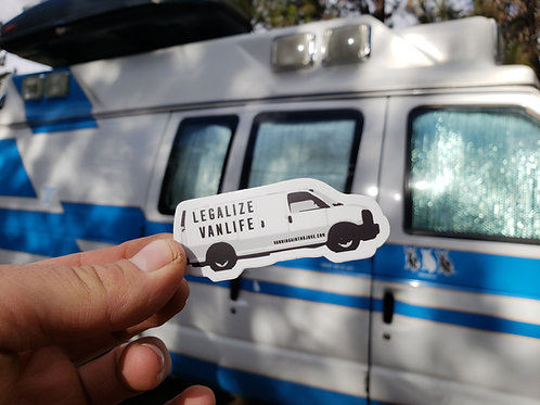 Legalize Van Life Sticker