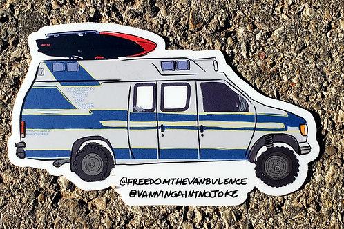 Freedom The Vanbulance Sticker