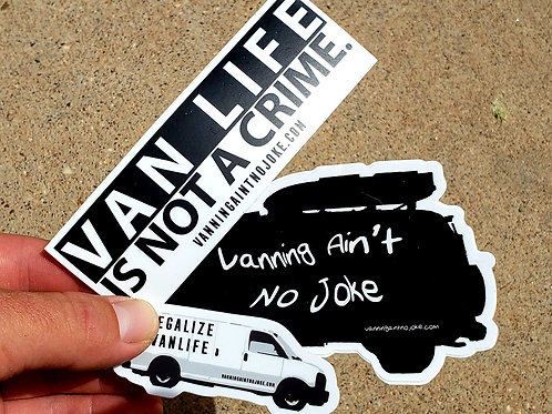 Sticker Pack: Van Life Is Not A Crime