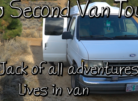 Jack Of All Adventures Lives in Van : 60 Second Van Tour