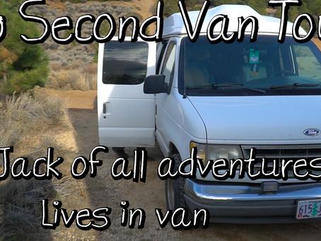 Jack Of All Adventures Lives in Van : 60 Second Van Tour