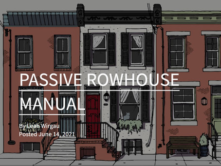 The Passive Rowhouse Manual