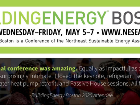 Please join us at NESEA BuildingEnergy Boston on May 7, 2021