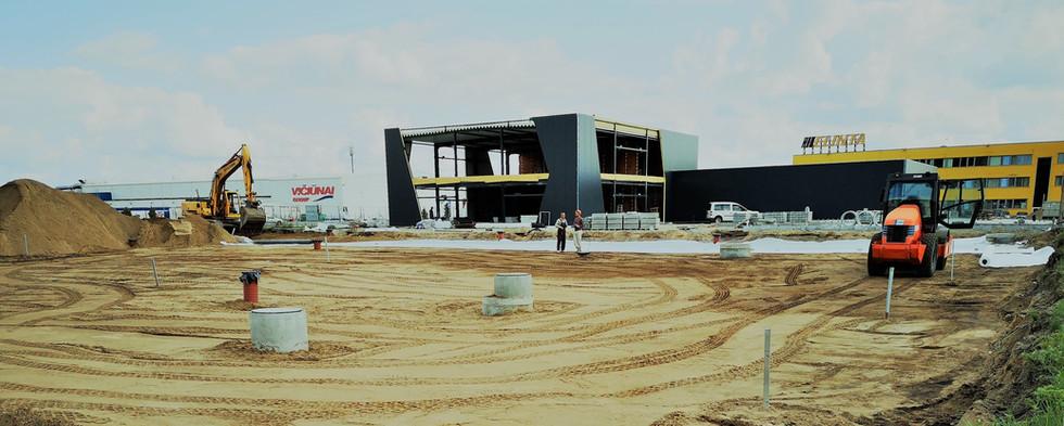 Automobilių stovėjimo aikštelės nauja statyba - 2500m2 - Kauno LEZ