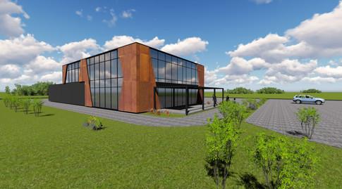 Administracinis su gamybinėm patalpomis pastatas - 1500m2 - Kauno LEZ