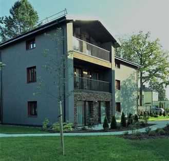 Naujos statybos daugiabutis Vilniuje.
