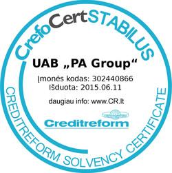 CreditReform sertifikatas