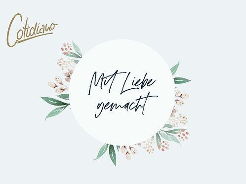 """Postkarte """"Mit Liebe gemacht"""""""