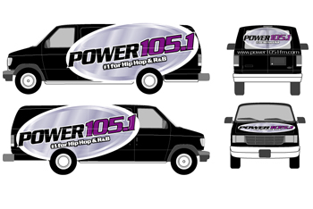Power 105.1 Vehicle Wrap