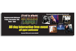 Z100's All Access Lounge USA Today Ad
