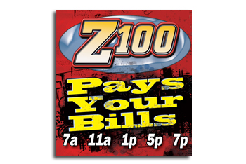 Z100 Pay Your Bills promotion